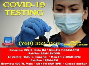 Covid Testing Hours
